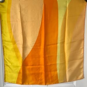 Vintage yellow abstract vera square scarf
